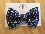 Blue Anchor Bow Tie