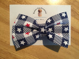 Boston Dog Bandanas™ Bow Tie - Blue Picnic Stars