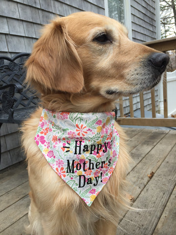 Mother's Day Dog Bandana Flowers