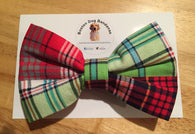 Summer Plaid Bow Tie