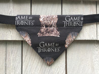 Dog Bandana - Scarf - Game of Thrones - Slides through the Collar - Pet Scarf - Dog Gift