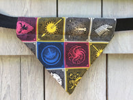 Dog Bandana - Scarf - Game of Thrones Symbols - Slides through the Collar - Pet Scarf - Dog Gift