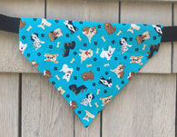 Dog Bandana - Scarf - Dog Breeds - Slides through the Collar - Pet Scarf - Dog Gift