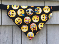 Boston Dog Bandanas ™ - Emoji - Slides through the Collar - Pet Scarf - Dog Gift