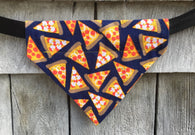 Boston Dog Bandanas ™ - Pizza Slices - Slides through the Collar - Pet Scarf - Dog Gift