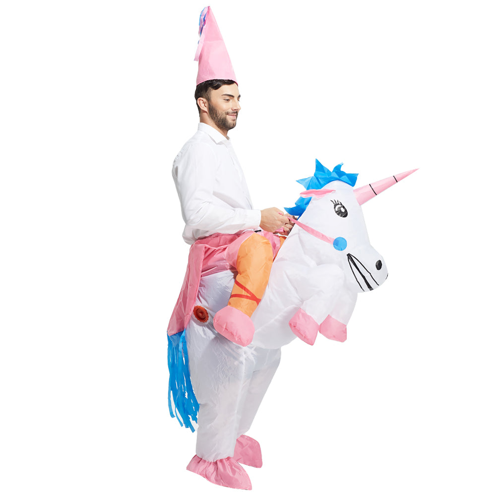 Ride On Inflatable Unicorn Costume For Adult Just4thelow