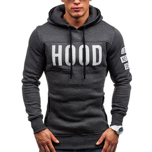 """THE HOOD"" Slim Hoody Jumper - Dark Grey"