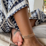 JEN YELLOW GOLD | ROSE GOLD ANKLET