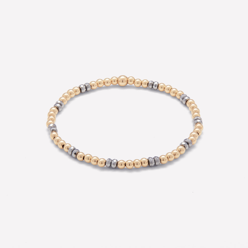 MINI BELLA  YELLOW GOLD BRACELET