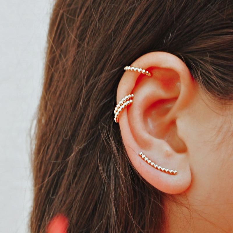 ZARA SILVER GOLD EAR CUFF