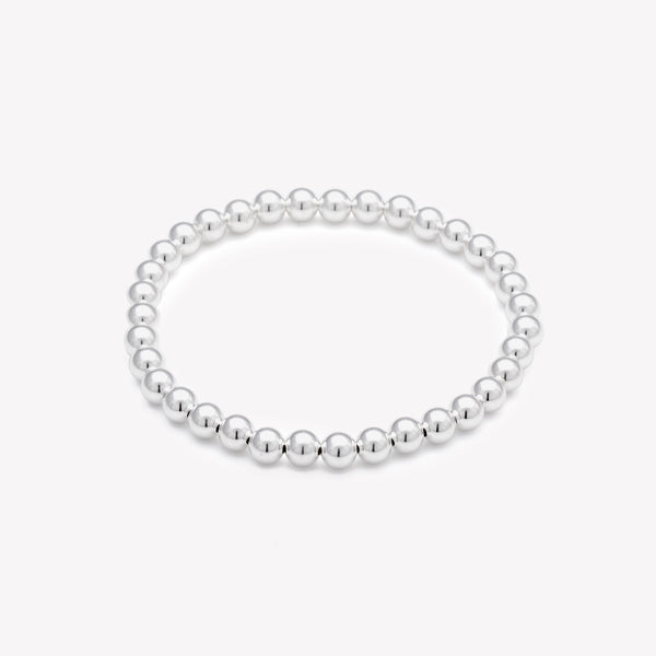 Silver beaded bracelet for women