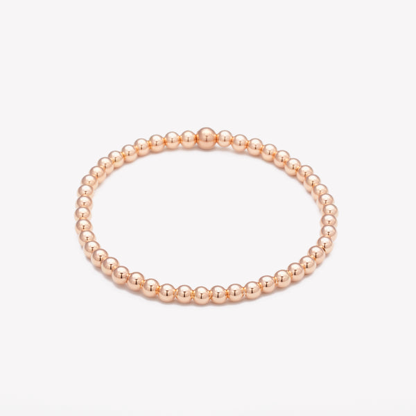 Rose gold beaded bracelet for women