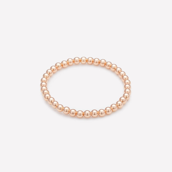 Rose gold beaded bracelet for kids