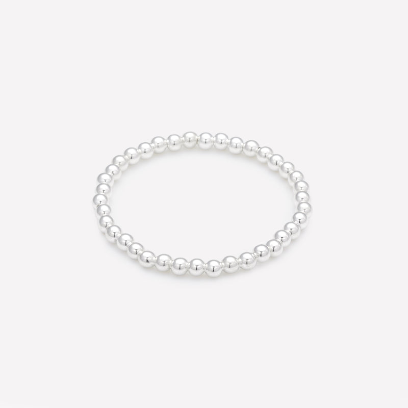 Silver beaded bracelet for kids