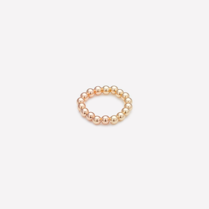 Two tone Rose gold and yellow gold ring for women