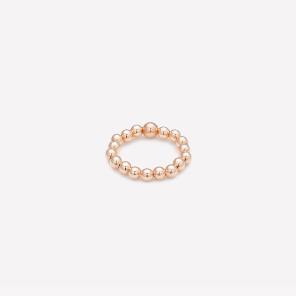 Rose gold beaded ring for women