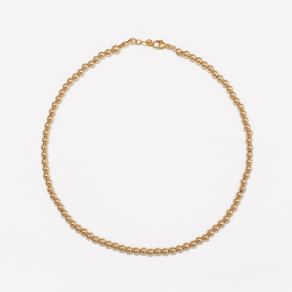 MILA YELLOW GOLD CHOKER 4MM