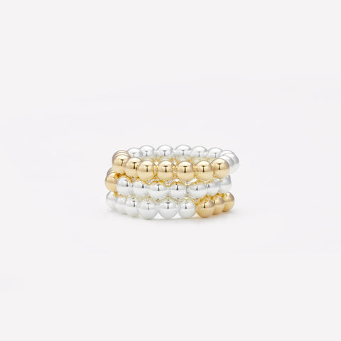 JEN YELLOW GOLD | SILVER RING