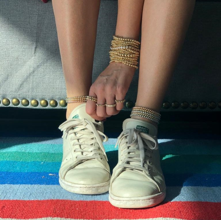 JEN YELLOW GOLD | SILVER ANKLET