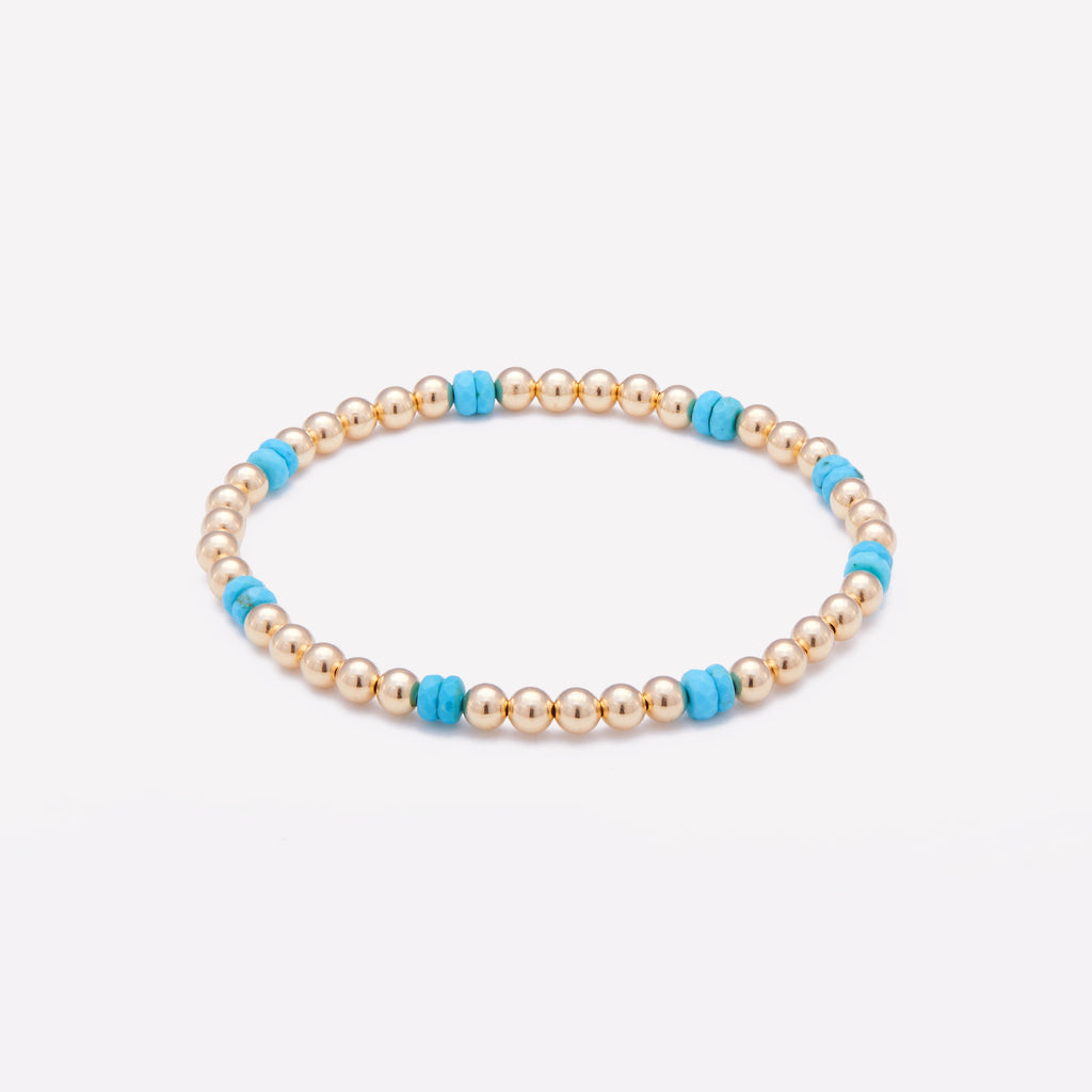 NOOR EVA YELLOW GOLD BRACELET 4MM