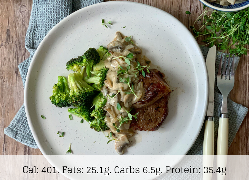 KETO - Steak & Mushroom - The Food Company