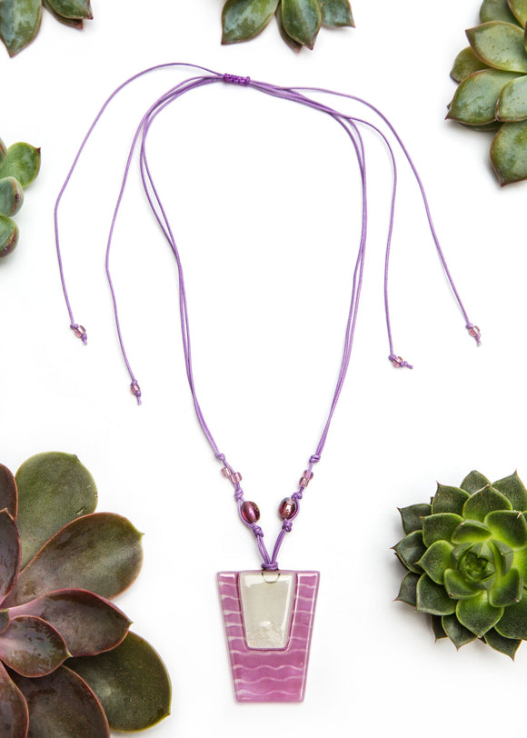 Chilean Glass Pendant Necklace