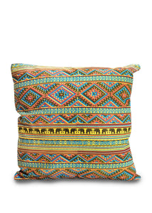 Elephant Patterned Throw Pillow