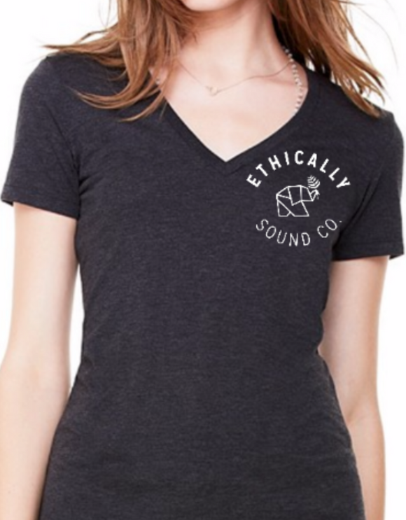 Ethically Sound Co. Logo V-Neck Tee
