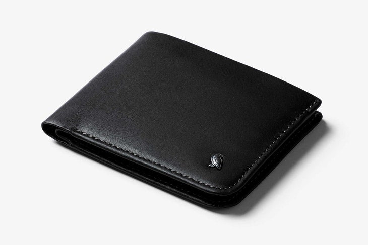 Bellroy Hide & Seek Hi Wallet Black - RFID - Stencil