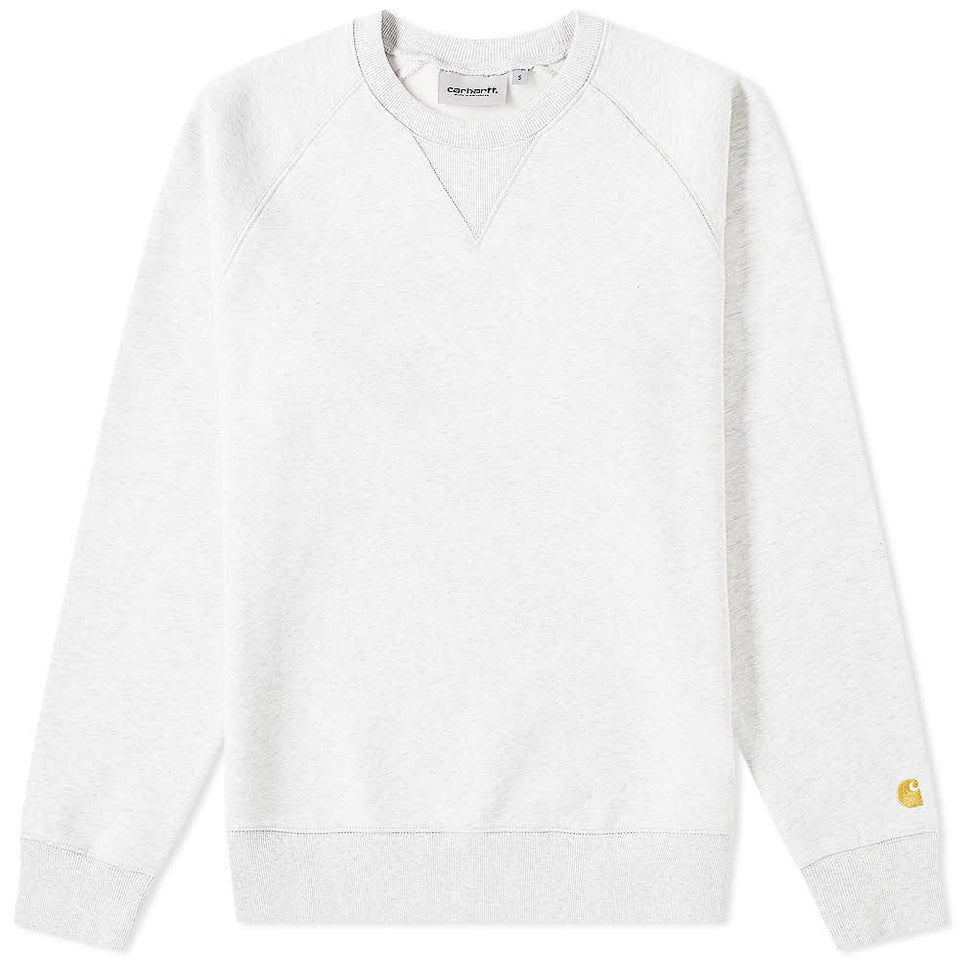 Carhartt Chase Sweat Ash Heather/ Gold