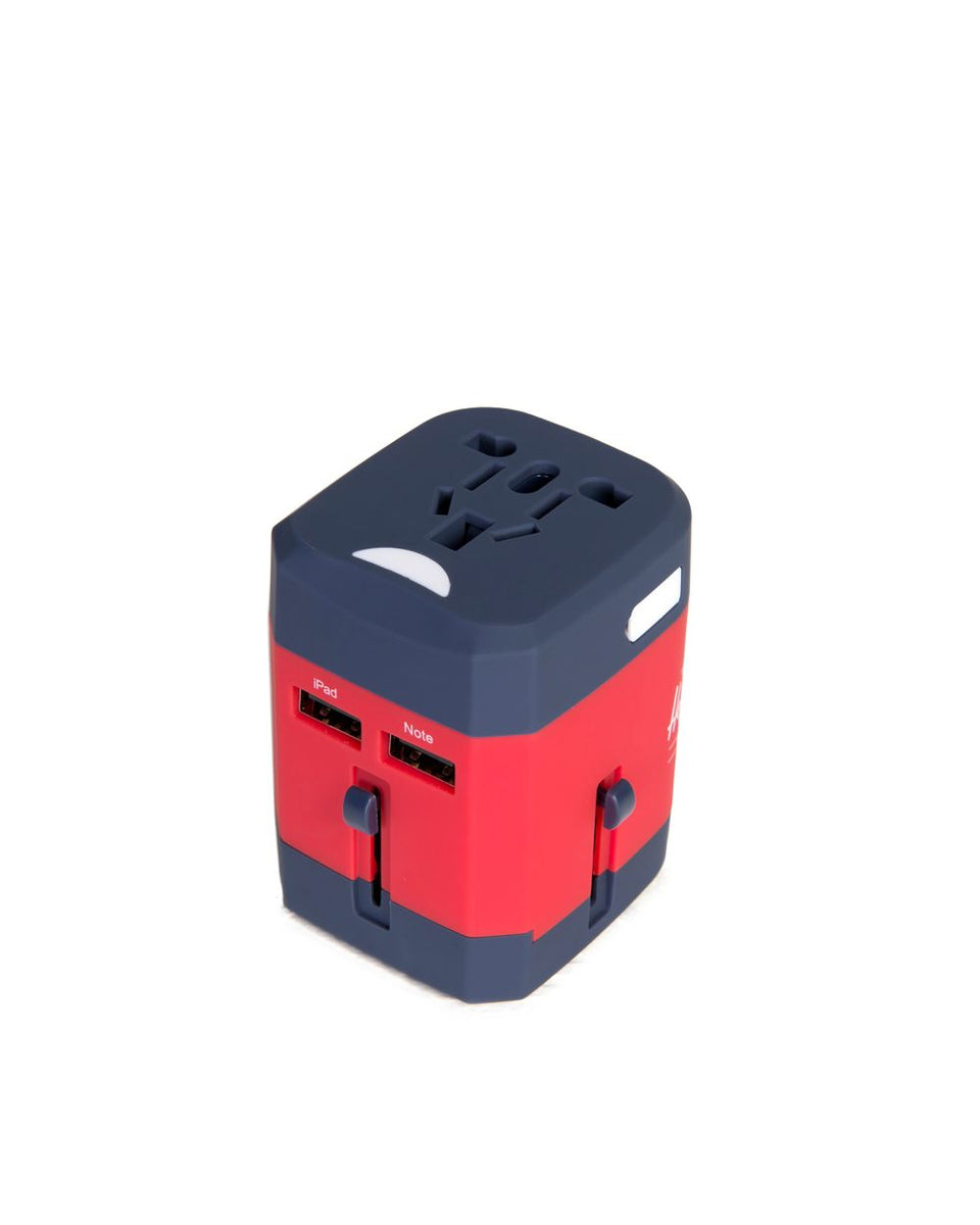Herschel Travel Adapter Navy/Red - Stencil
