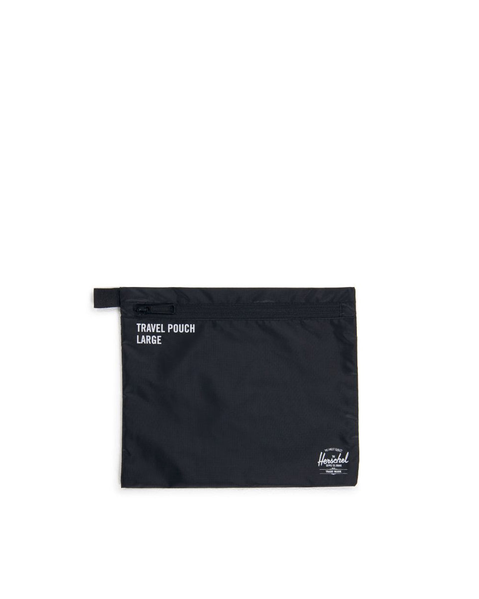 Herschel Travel Pouches Black - Stencil