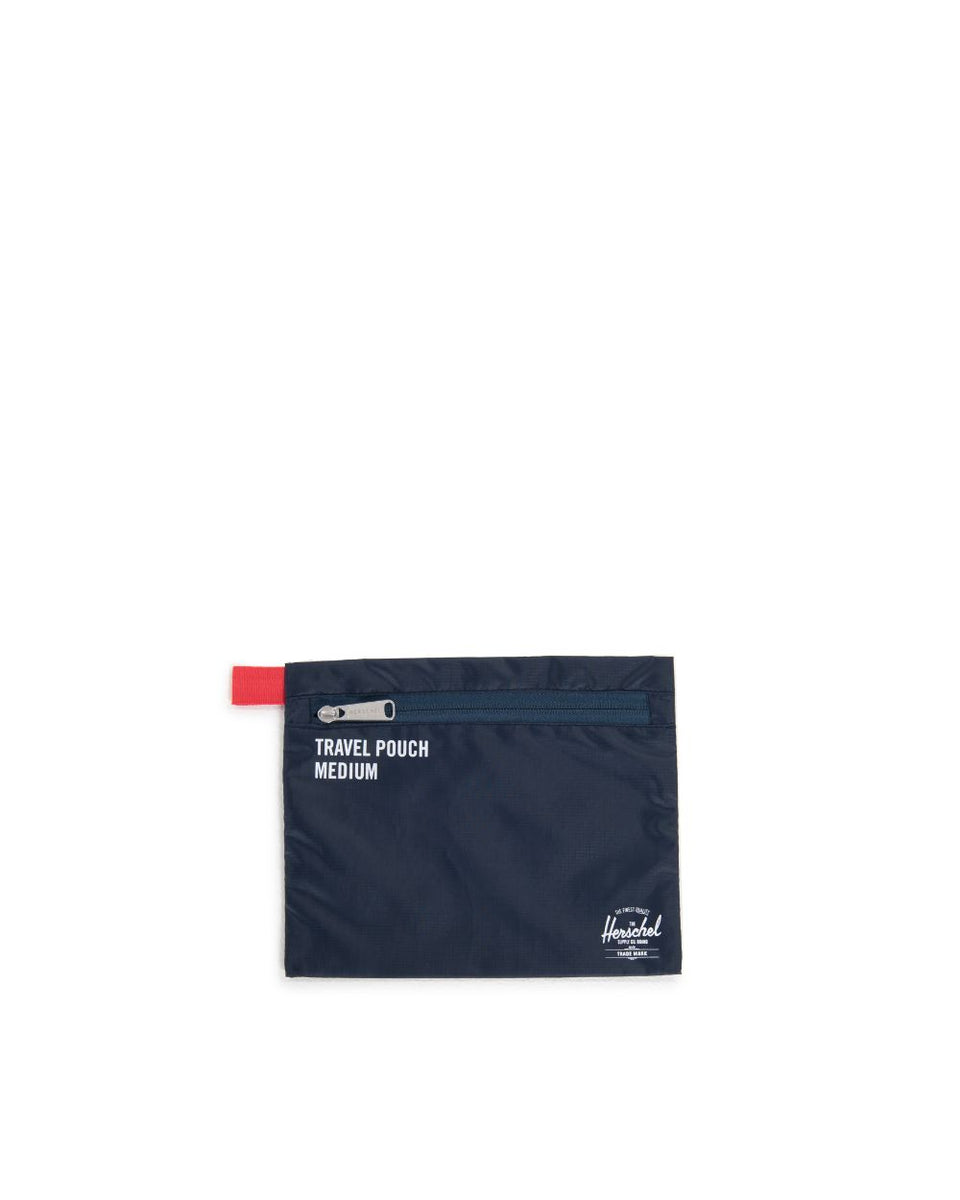 Herschel Travel Pouches Navy/Red - Stencil