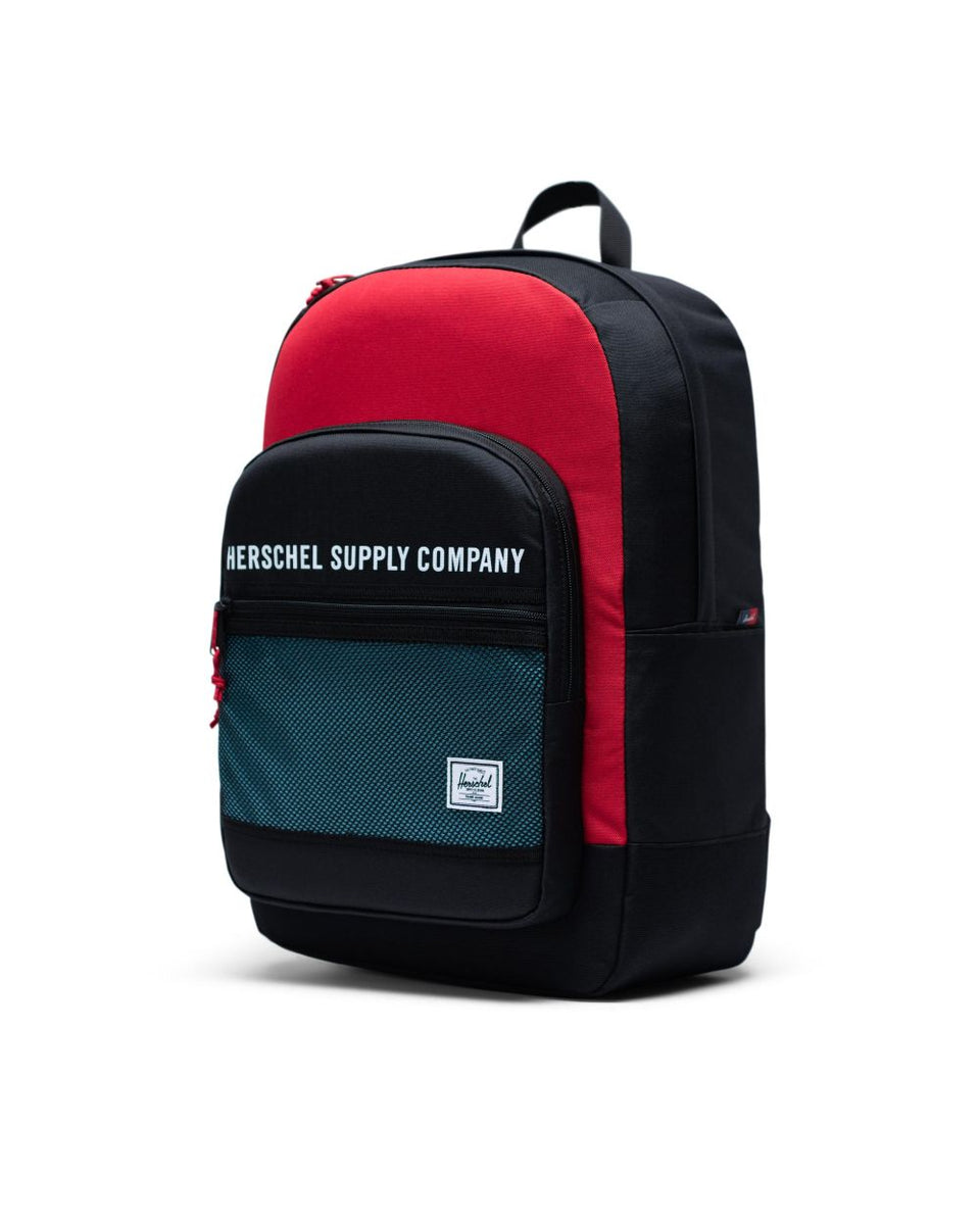 Herschel Kaine Backpack Black/Red/Bachelor Button - Stencil