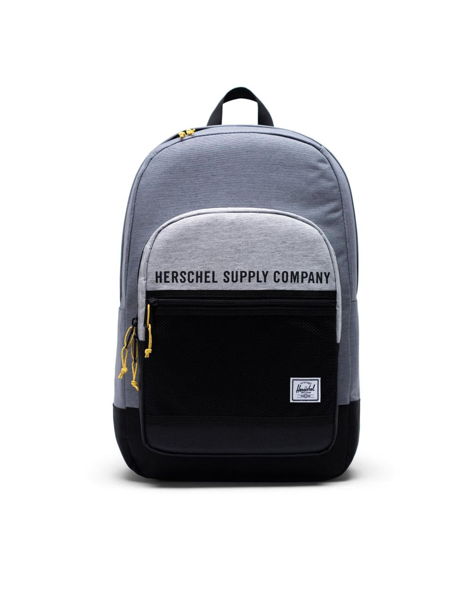 Herschel Kaine Backpack Mid Grey Crosshatch/Light Grey Crosshatch/Black - Stencil