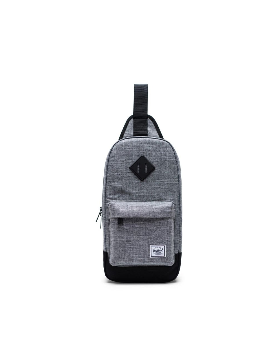 Herschel Heritage Shoulder Bag Raven Crosshatch/BLack
