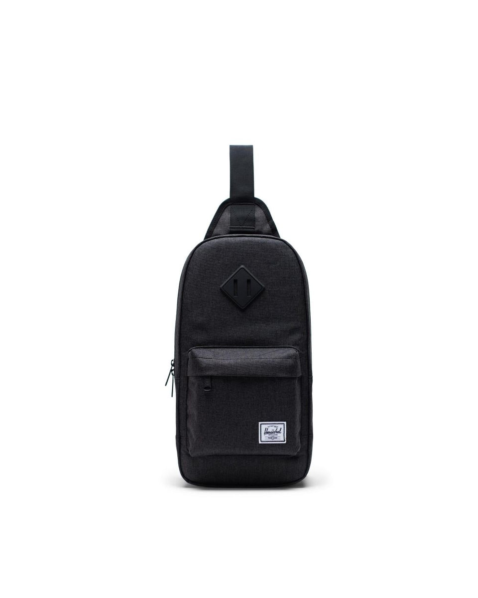 Herschel Heritage Shoulder Bag Black Crosshatch - Stencil