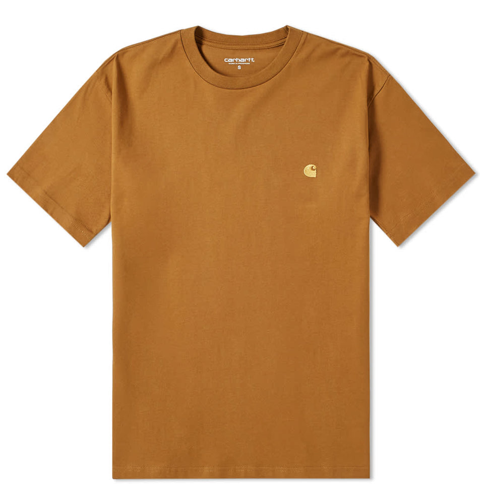 Carhartt Short Sleeve Chase T Shirt Hamilton Brown/ Gold