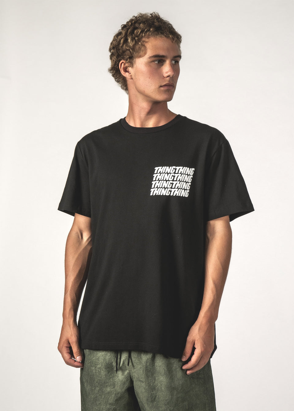 Thing Thing Stacker Tee Black