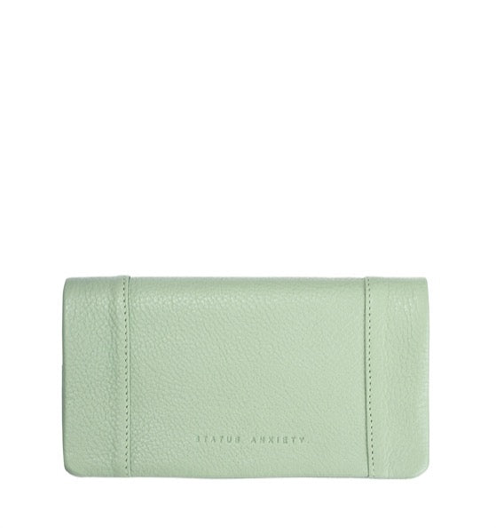 Status Anxiety Some Type of Love Wallet Mint Green - Stencil