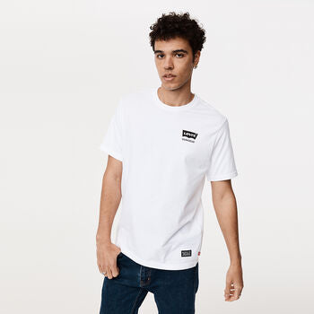 Levis Work Wear Relaxed Graphic Tee White