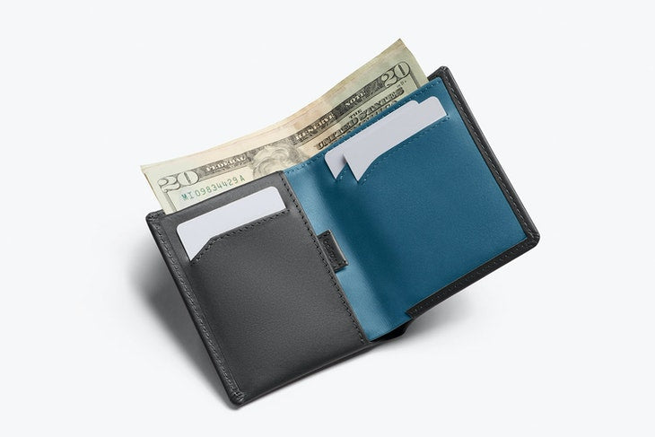Bellroy Note Sleeve Wallet Charcoal - RFID - Stencil