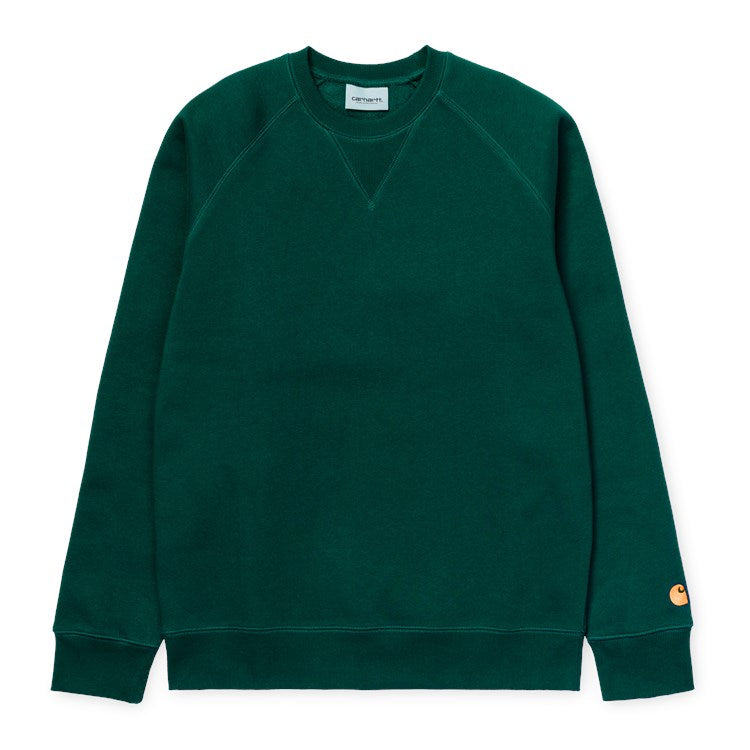 Carhartt Chase Sweat Dark FIr/ Gold