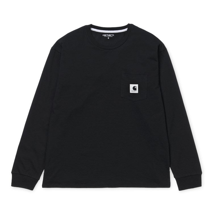 Carhartt W L/S Pocket Tee Black