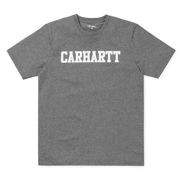 Carhartt Short Sleeve College T Shirt Dark Grey Heather
