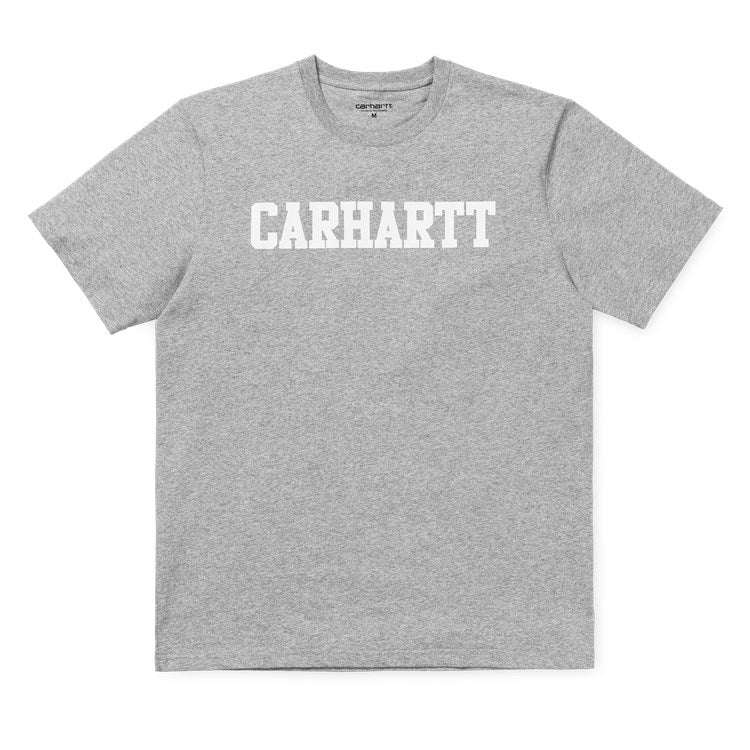 Carhartt Short Sleeve College T Shirt Grey Heather