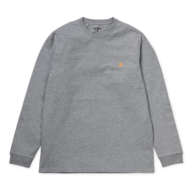 Carhartt L/S Chase T Shirt Grey Heather