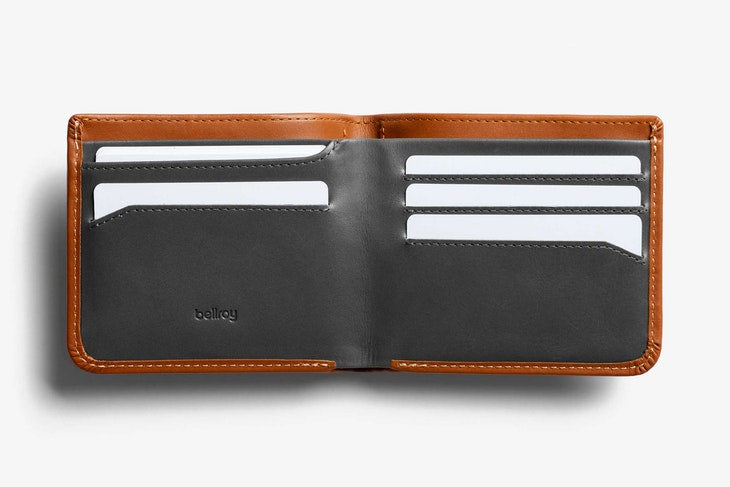 Bellroy Hide & Seek Hi Wallet Caramel - Stencil