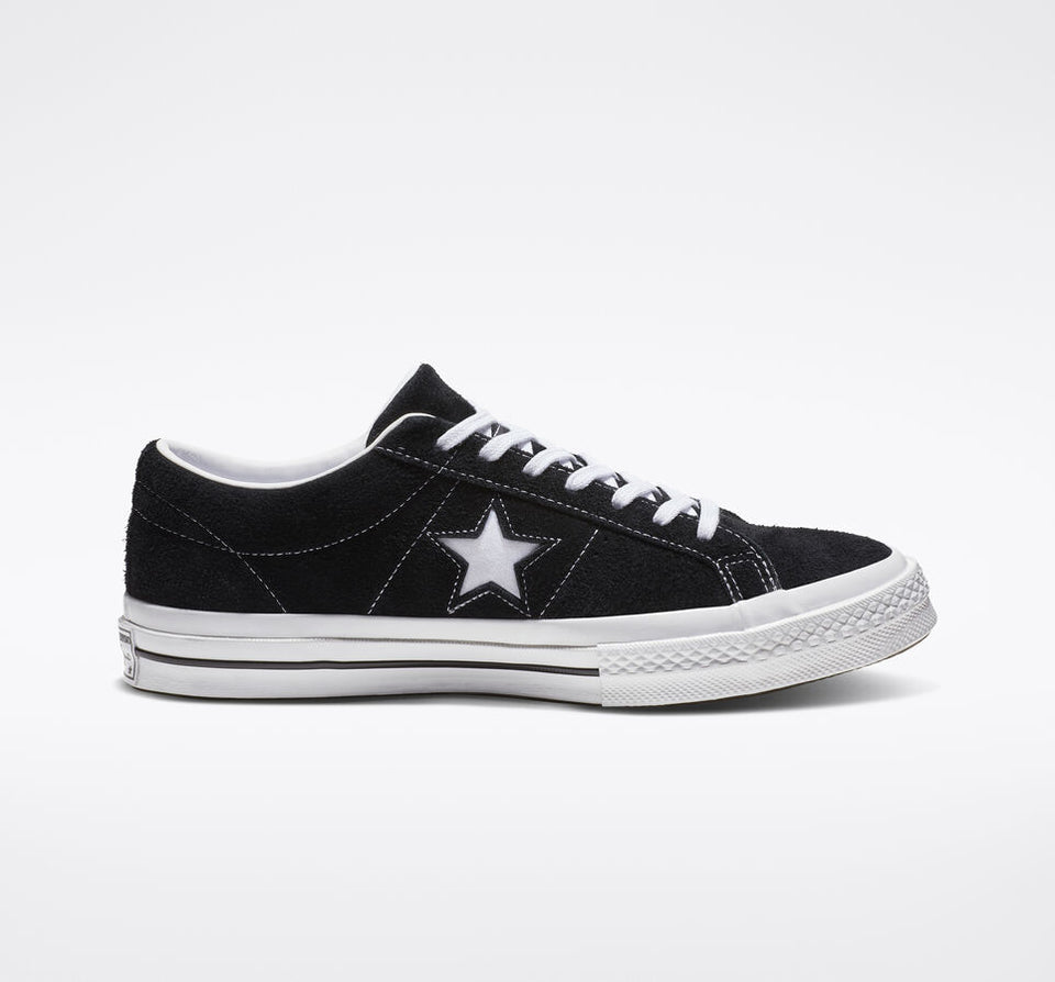 Converse One Star Vintage Suede Black/ White - Stencil