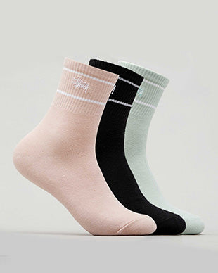 Stussy Womens Fine Stripe Sock 3 Pack